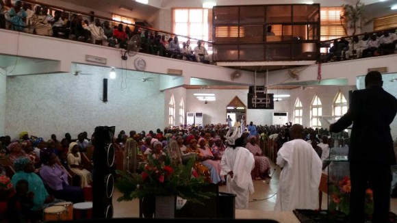 I spoke and prayed at this church in Abuja. Many of the congregants here are relatives of abducted girls.